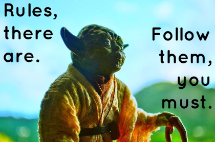 yoda rules to follow