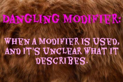 dangling modifier definition