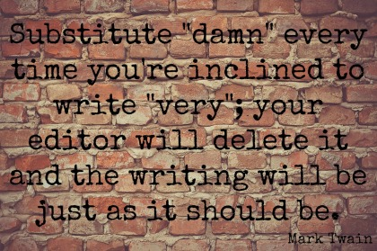 substitute damn for very writing tip