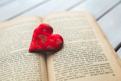 open book with heart