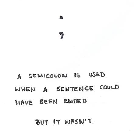 Semicolon Calliope Writing