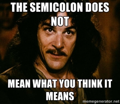 Semicolon Post 1