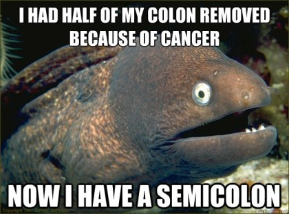 Semicolon Post Joke