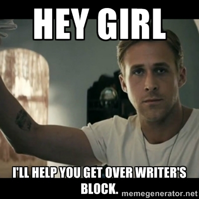 Funny Writers Block Hey Girl