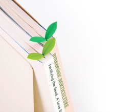 leaf bookmark for readers and nature lovers