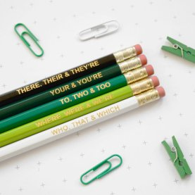 ombre pack of pencils for grammar nazi snobs