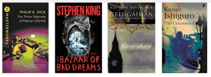 philip k dick stephen king neil gaiman kazuo ishiguro books