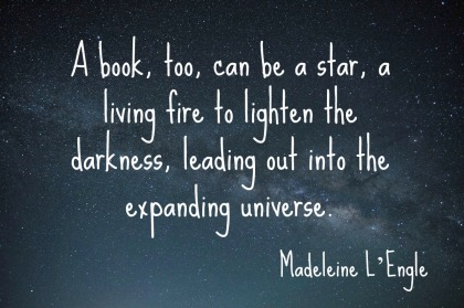 Madeleine L'Engle quotation A to Z Blogging Challenge