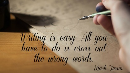 Mark Twain Quotation - A to Z Blogging Challenge