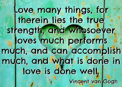 Vincent van Gogh Quotation - A to Z Blogging Challenge