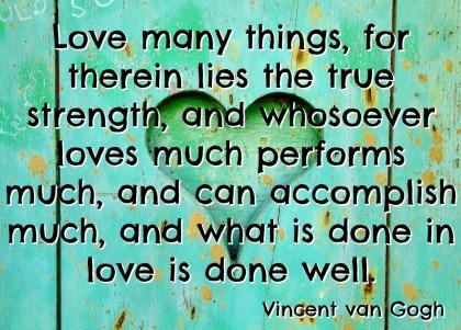 Vincent van Gogh Quotation - A to Z Blogging Challenge