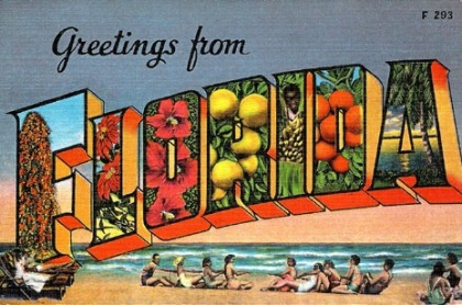 Retro Florida Postcard