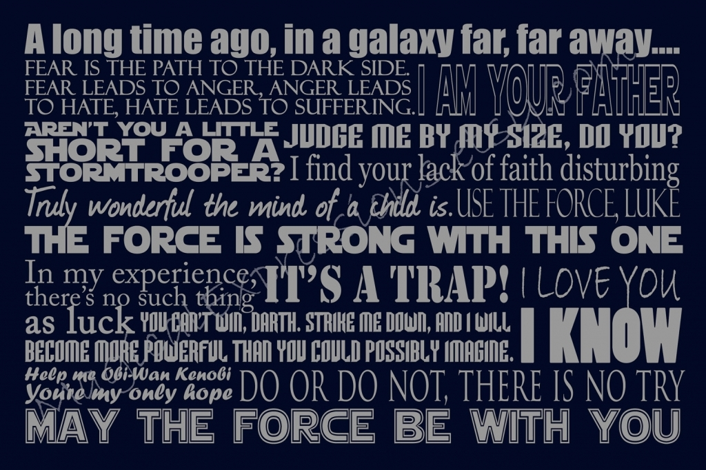 Reblogged 10 Star Wars Quotes To Inspire You Calliope Writing