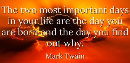 Monday Morning Quote Love Mark Twain Important Days
